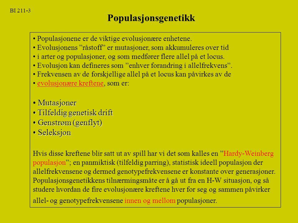 BI 211-24 Kap.24: Populasjonsgenetikk Kap.