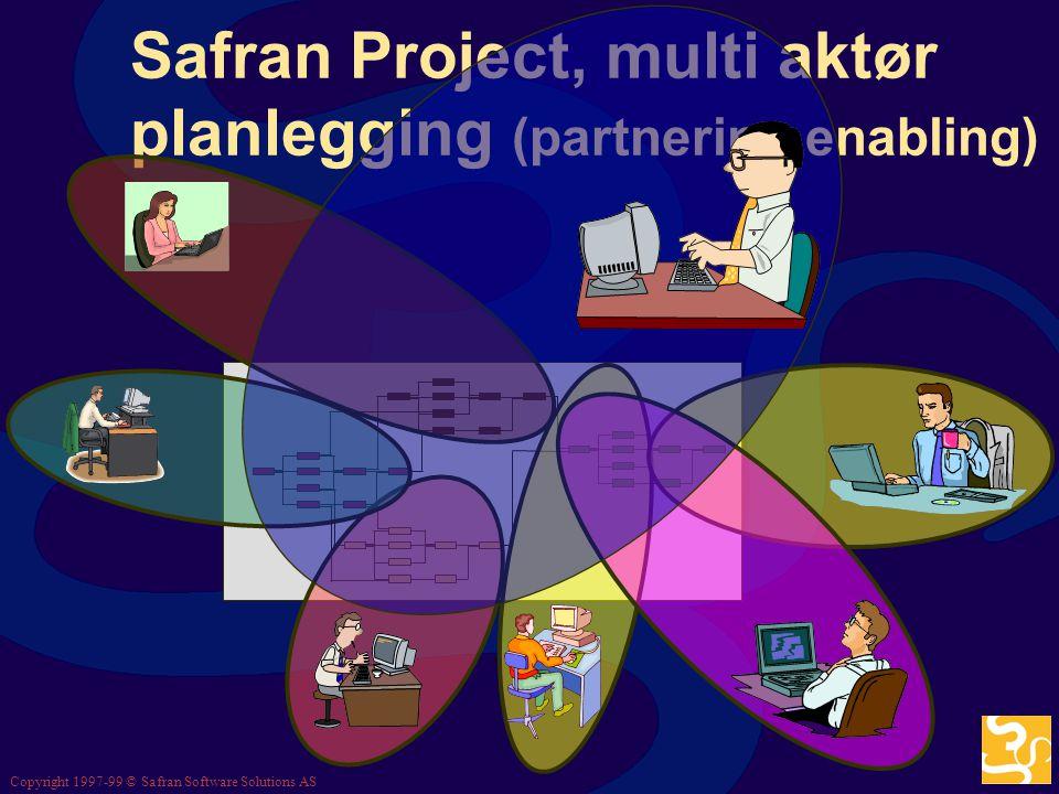 Copyright 1997-99 © Safran Software Solutions AS Historie og sporbarhet Safran Project Historie- tabeller.. det riktige bildet og dets årsaker, til en