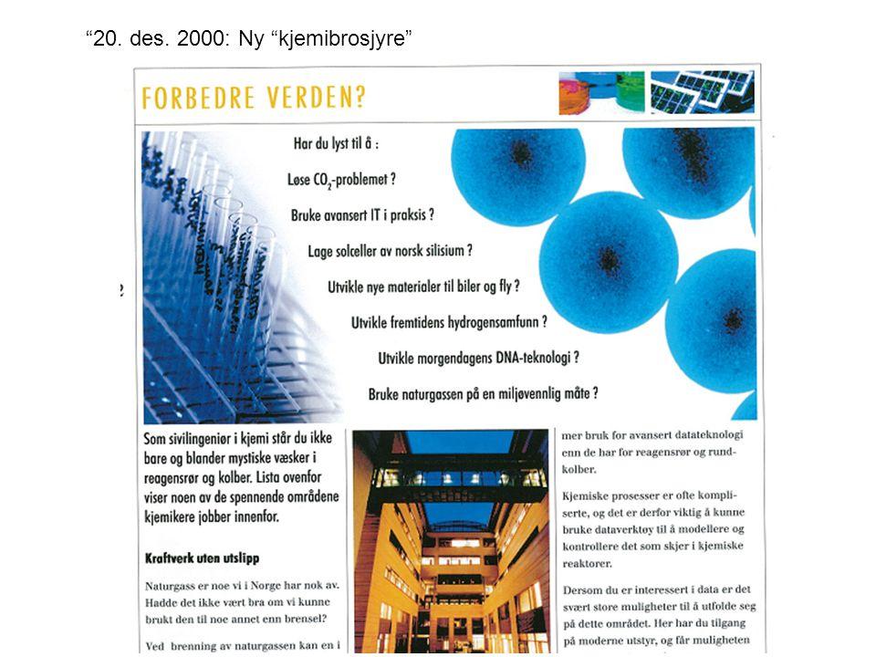"""""""20. des. 2000: Ny """"kjemibrosjyre"""""""