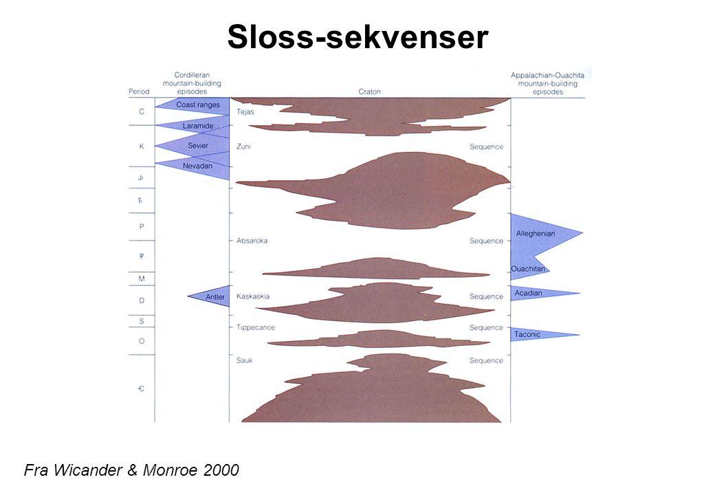 Sloss-sekvenser Fra Wicander & Monroe 2000