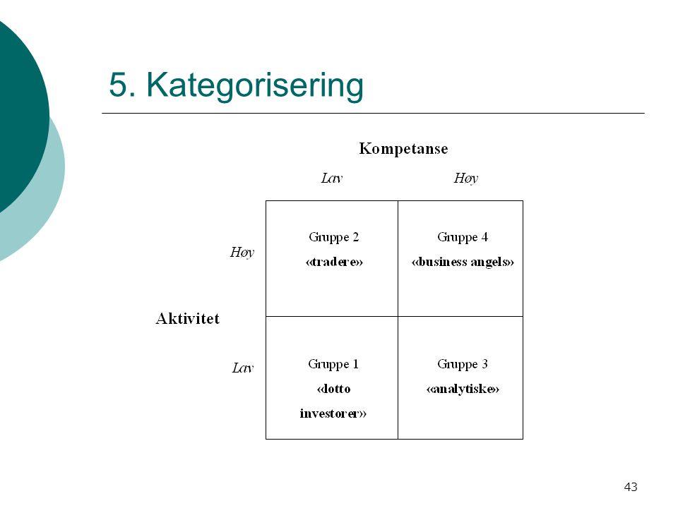 43 5. Kategorisering
