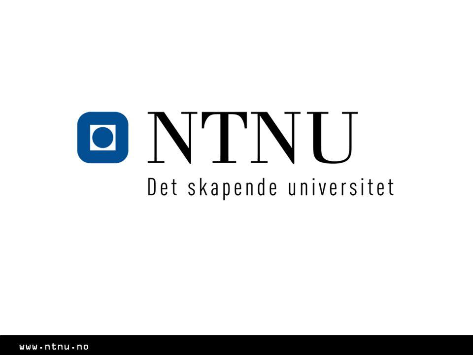 Program Fakta om NTNU NTNUs utdanningsområder *Studieprogram* Student i Trondheim