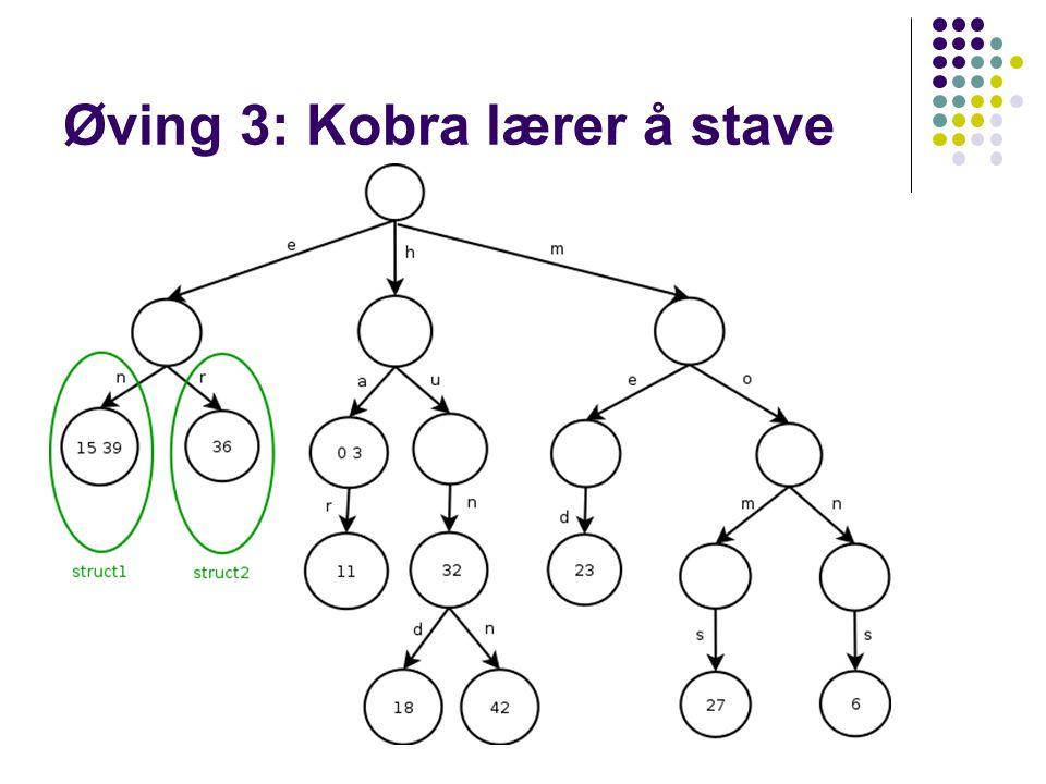 Øving 3: Kobra lærer å stave