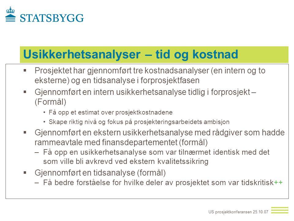 US prosjektkonferansen 25.10.07 Praktisk styring av usikkerhet i et eierperspektiv (PUS) – bakgrunn  PÅSTAND –Verden blir stadig mer dynamisk og omsk