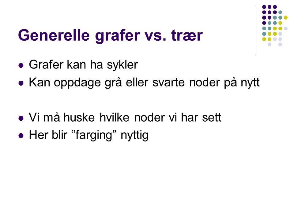 Generelle grafer vs.