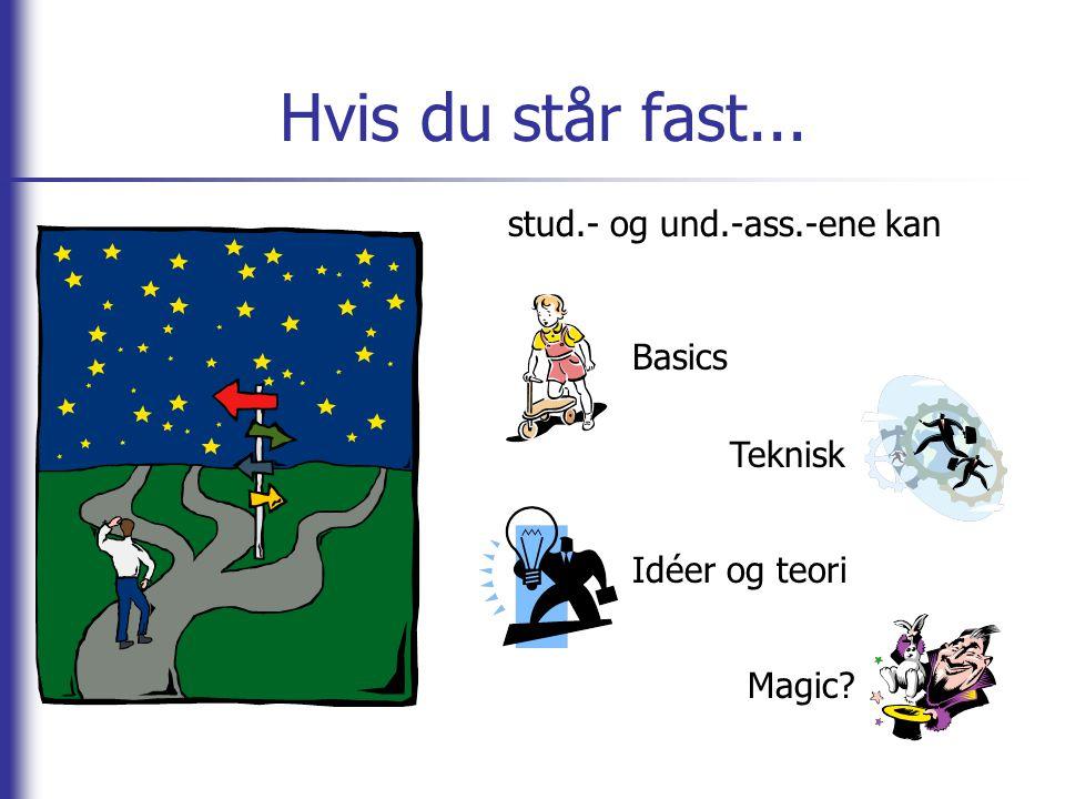 Hvis du står fast... stud.- og und.-ass.-ene kan Basics Teknisk Idéer og teori Magic