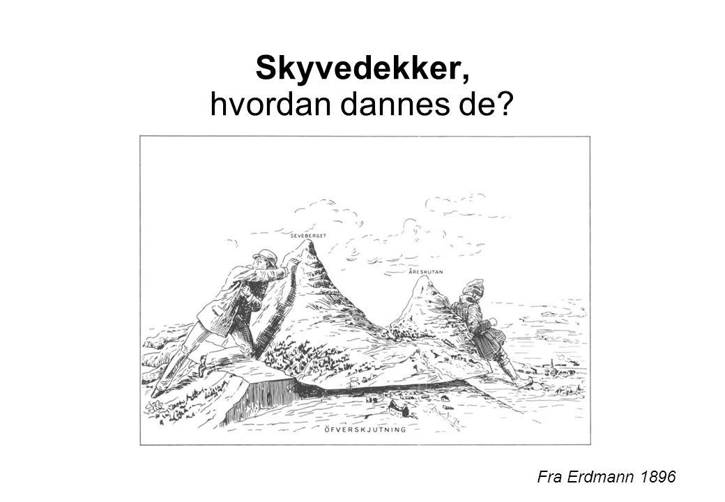 Utvikling av kaledonske skyvedekker gjennom hele underpaleozoikum Fra Ramsay et al. 1985