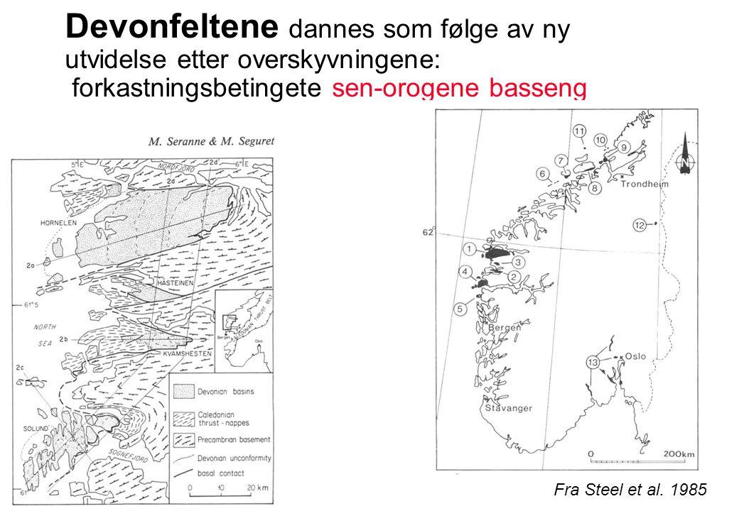 70 x 25 km 25 000 m tykkelse Alluviale vifter Vifte-delta avsetninger