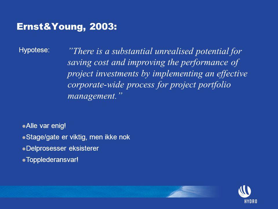 Hva er Prosjekt-porteføljeledelse Strategisk nivå: Analyse Prioritering Valg av prosjekter Taktisk nivå: Planlegging Organisering Ressursallokering Synergier Oppfølging, rapportering, informasjonsformidling