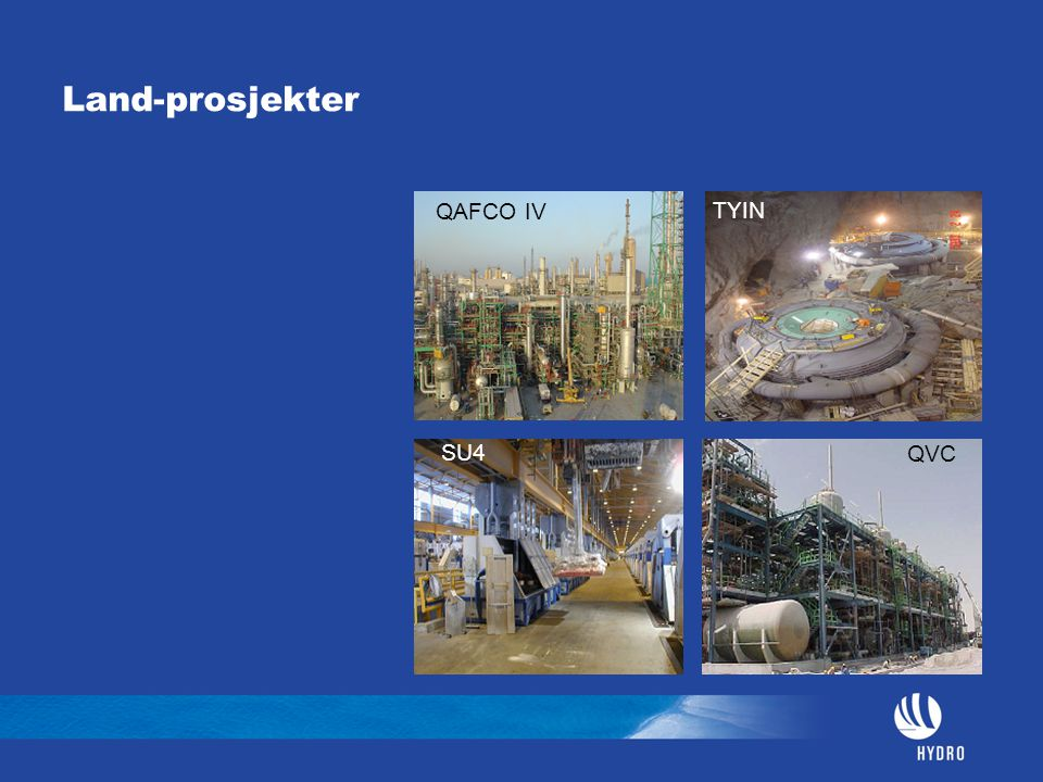Land-prosjekter QVC QAFCO IV SU4 TYIN
