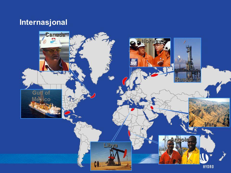 InternasjonalCanada Norway Iran Libya Gulf of Mexico Russia Angola