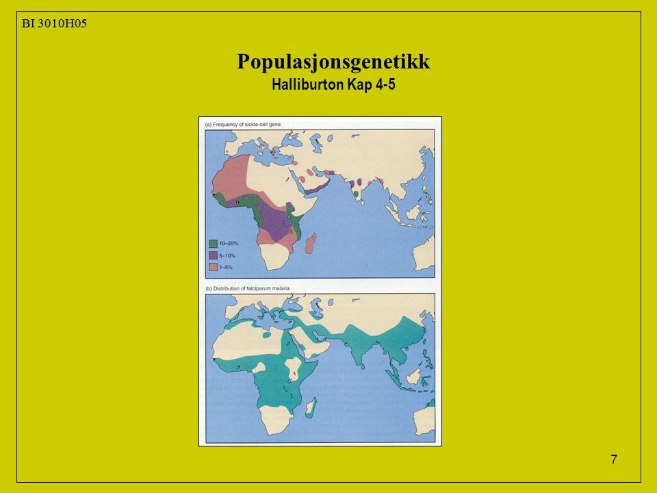 7 BI 3010H05 Populasjonsgenetikk Halliburton Kap 4-5