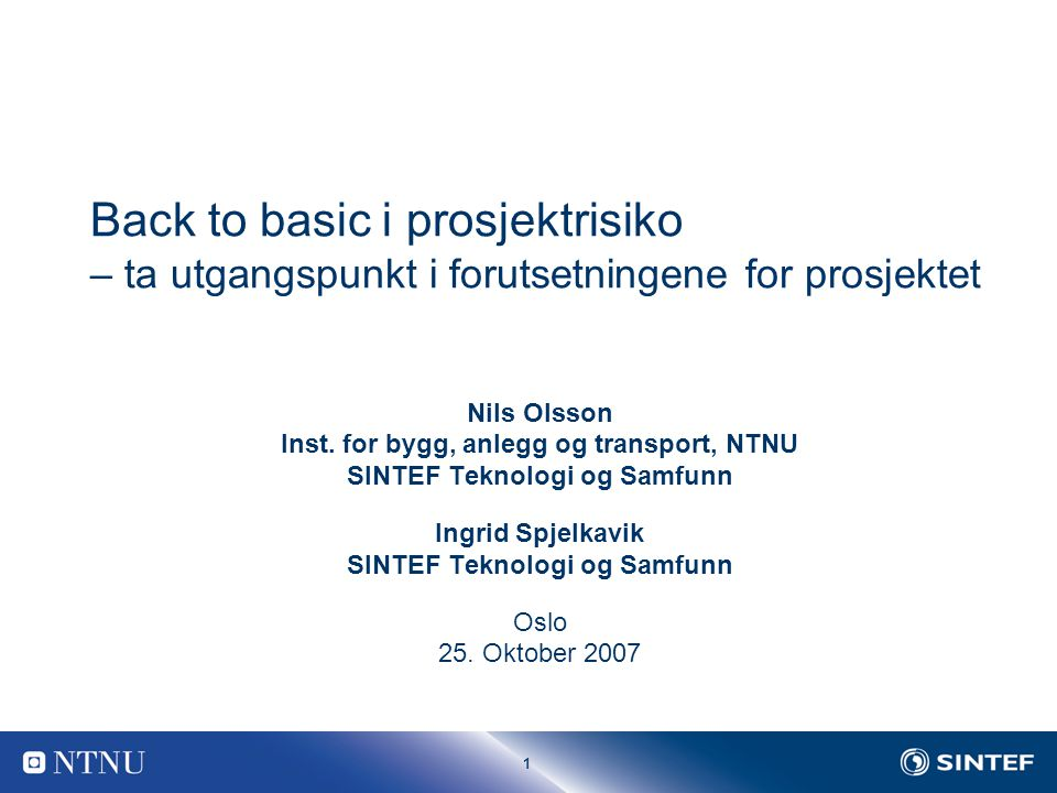1 Nils Olsson Inst.