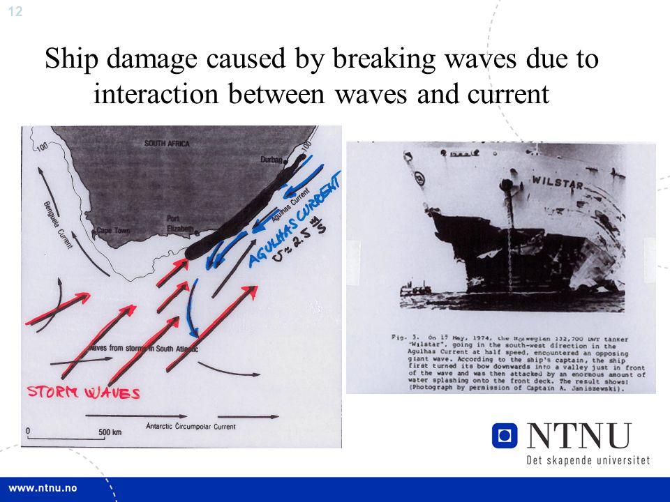 11 TMR4230 Oseanografi Bølger, vind og strøm Læringsmål: Fysisk forståelse for fenomener som bidrar til interaksjon mellom atmosfære og hav, og som bi