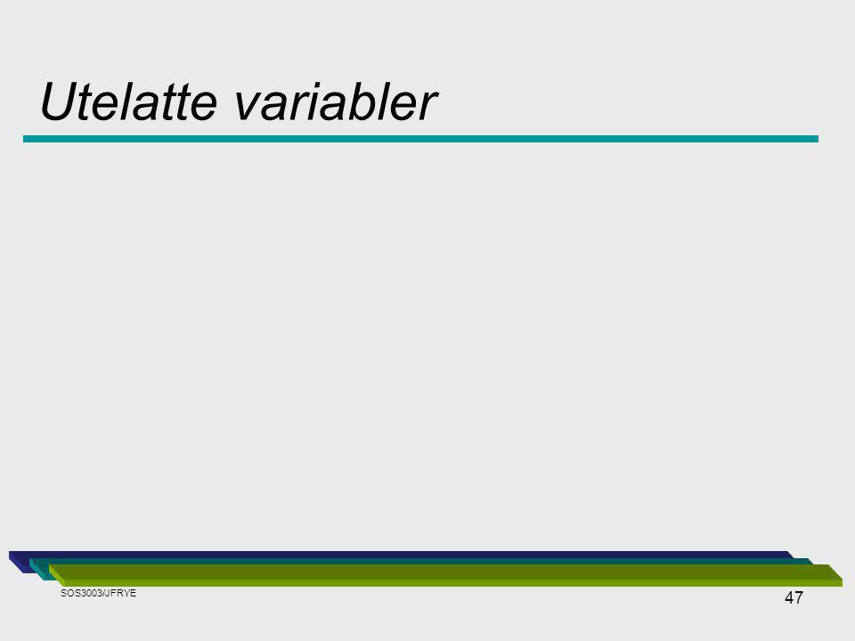47 Utelatte variabler SOS3003/JFRYE