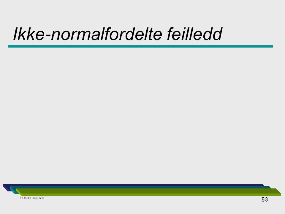 53 Ikke-normalfordelte feilledd SOS3003/JFRYE