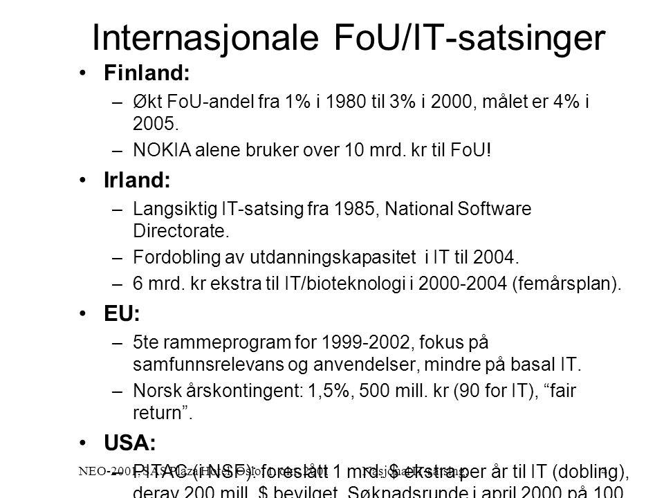 NEO-2001, SAS Plaza Hotel, Oslo, 1. okt.