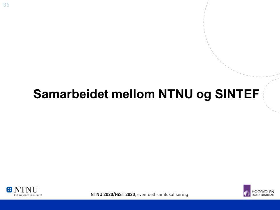 35 Samarbeidet mellom NTNU og SINTEF