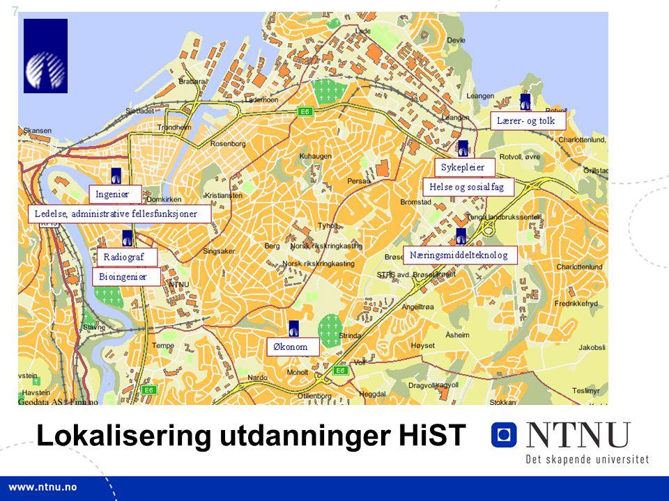 7 Lokalisering utdanninger HiST