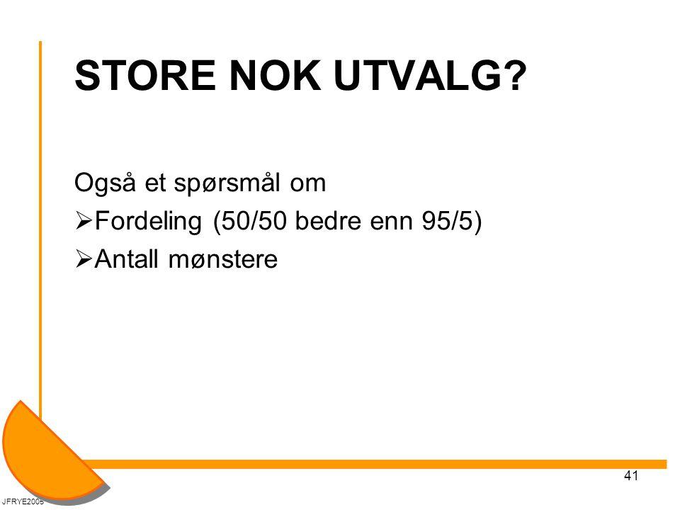 41 STORE NOK UTVALG.