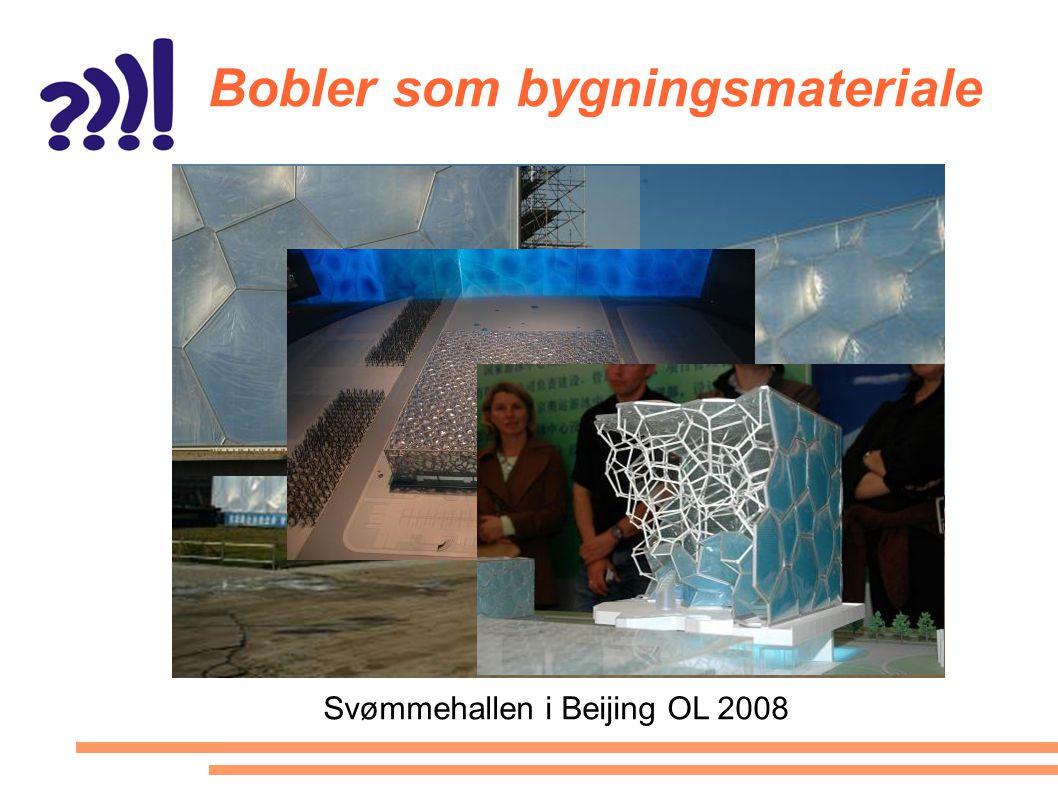 Bobler som bygningsmateriale Svømmehallen i Beijing OL 2008