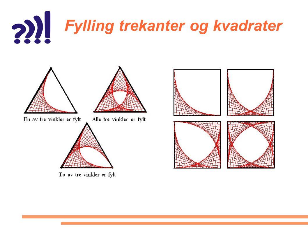 Fylling trekanter og kvadrater