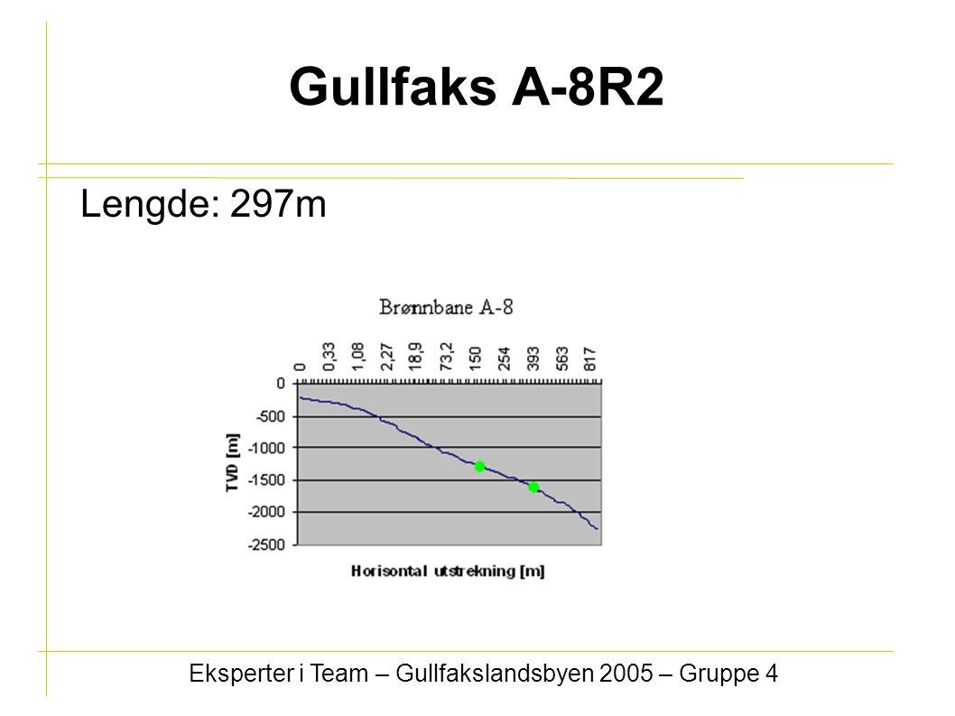 Gullfaks A-8R2 Lengde: 297m Eksperter i Team – Gullfakslandsbyen 2005 – Gruppe 4