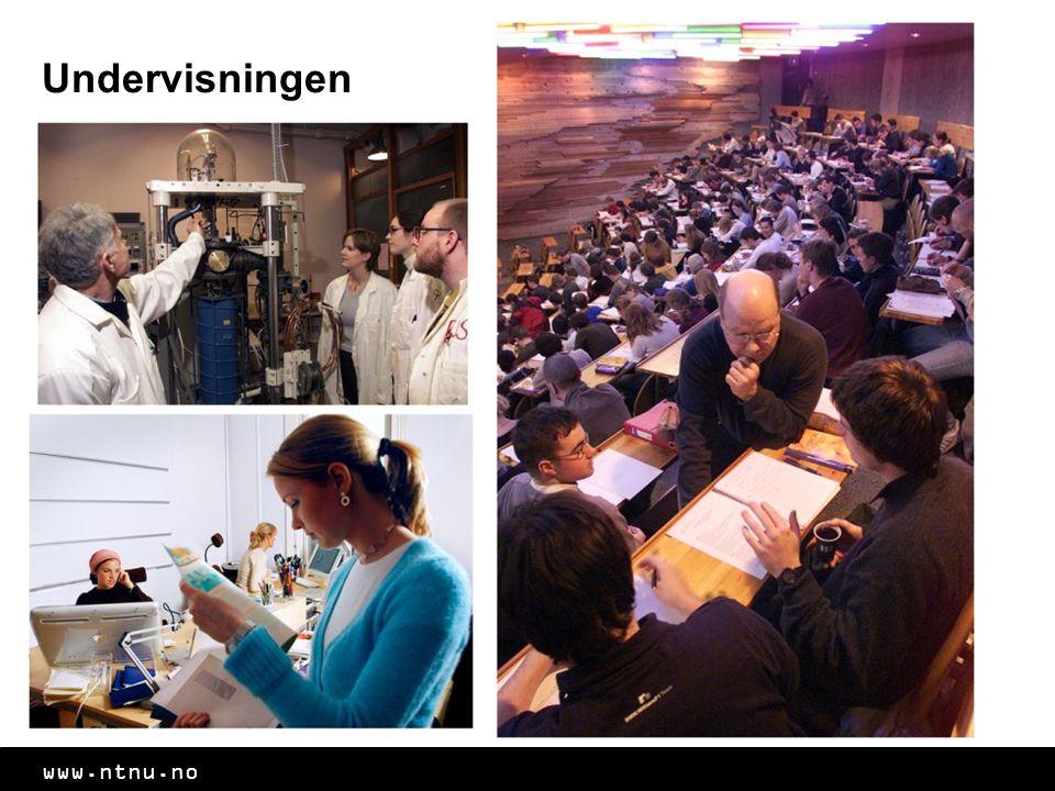 www.ntnu.no Undervisningen