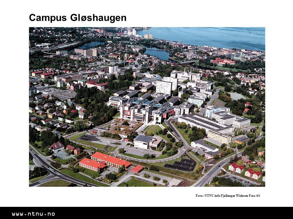 www.ntnu.no Campus Gløshaugen Foto: NTNU info/Fjellanger Widerøe Foto AS