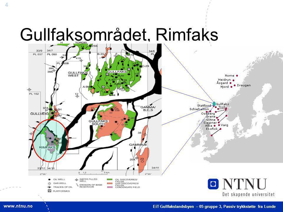 4 Gullfaksområdet, Rimfaks EiT Gullfakslandsbyen – 05 gruppe 3, Passiv trykkstøtte fra Lunde