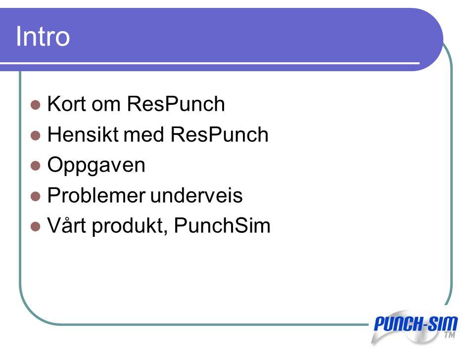 ResPunch teknologien Sandskjerm utviklet av firmaet ResLink Har aldri blitt brukt før Gulltopp med ResPunch Et alternativ til konvensjonelle skjermer
