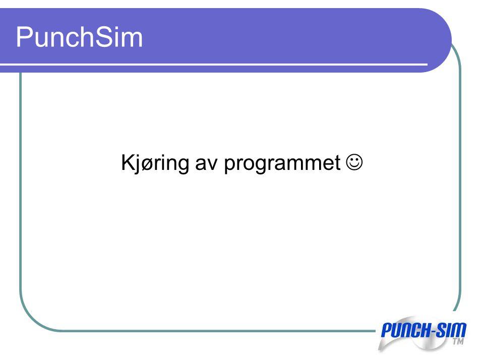 PunchSim Kjøring av programmet