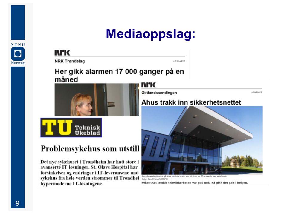 10 Caset St.Olav: Gammelt og nytt pasientsignalsystem (forenklet) Manuell tilstede Manuell whiteboard Opt.:'Overhead page' / Intercom M / display Bemanningsplan Mottak pas.