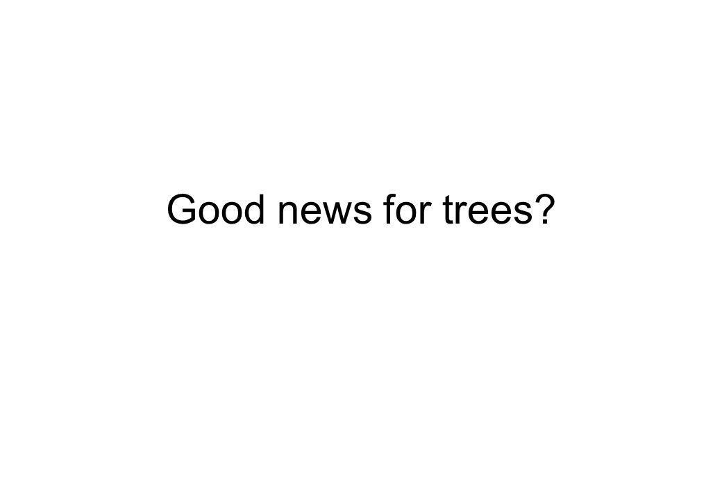 Good news for trees?