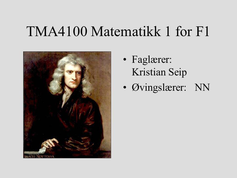 Matematikk 1 – eget opplegg for Fysikk og matematikk Egen lærebok (Adams) Noe mer vekt på matematikk som egen fagdisiplin Essensielt samme pensum, men egne øvinger og mulighet for egen variant av avsluttende eksamen Har du en spesiell interesse for matematikk og overskudd til det, kan du følge MA1301 Tallteori