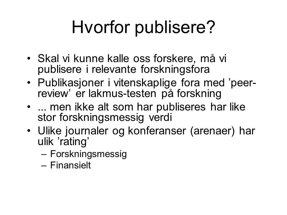 Hvorfor publisere.