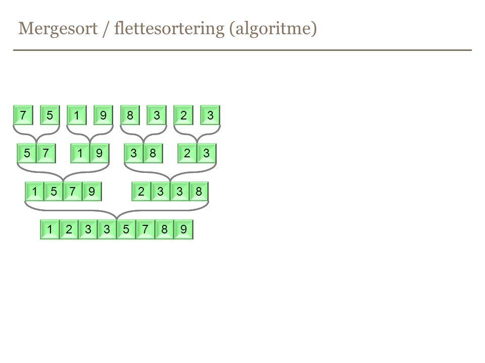Mergesort / flettesortering (algoritme) 75198323 75198323 75198323 75198323 57193823 15792338 12335789 75198323