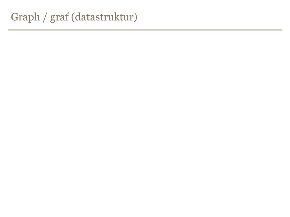 Graph / graf (datastruktur)