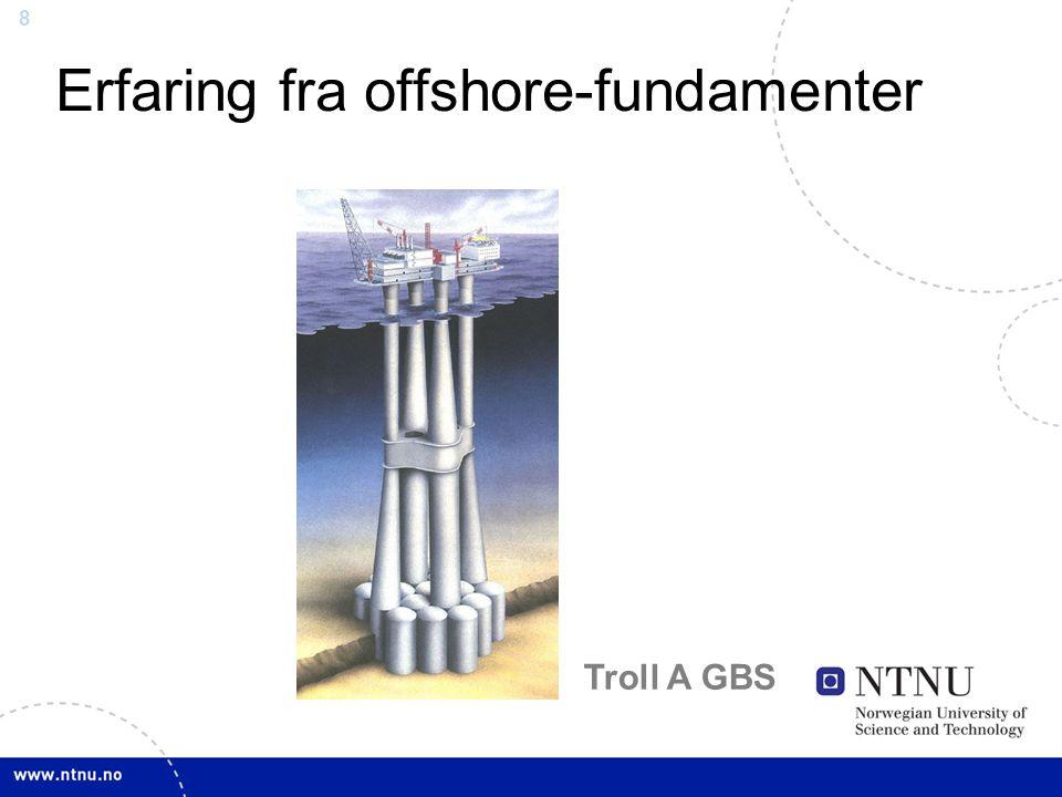 8 Erfaring fra offshore-fundamenter Troll A GBS