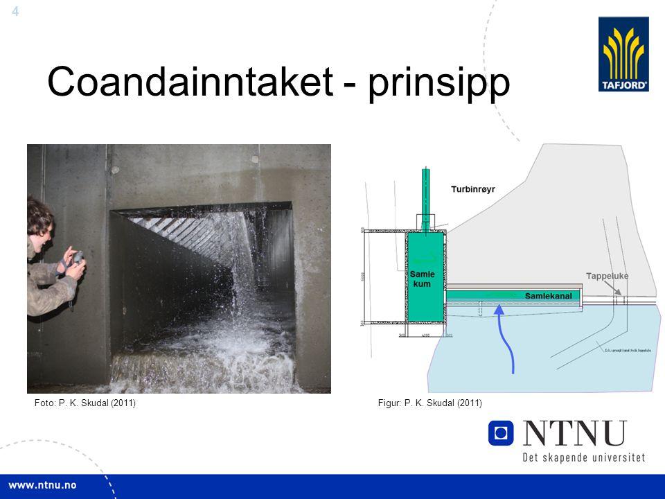 4 Coandainntaket - prinsipp Figur: P. K. Skudal (2011)Foto: P. K. Skudal (2011)