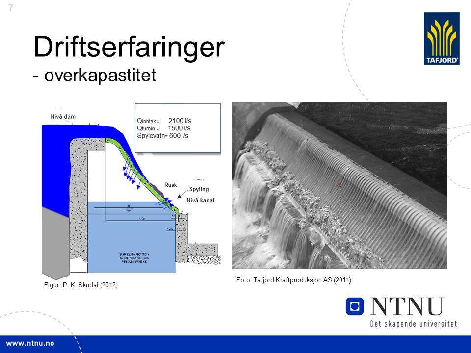 7 Driftserfaringer - overkapastitet Foto: Tafjord Kraftproduksjon AS (2011) Figur: P. K. Skudal (2012)