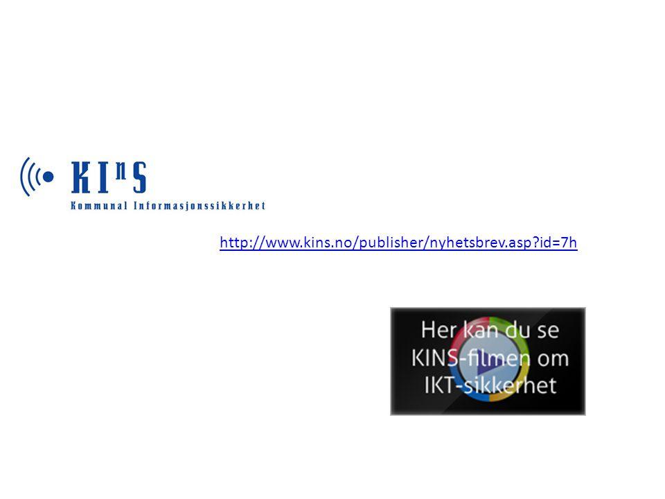 http://www.kins.no/publisher/nyhetsbrev.asp?id=7h