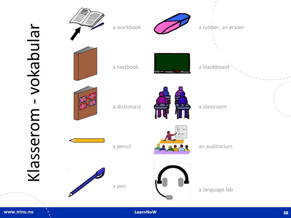 LearnNoW Klasserom - vokabular 38