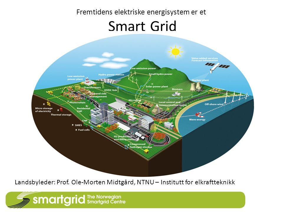 Fremtidens elektriske energisystem er et Smart Grid Landsbyleder: Prof. Ole-Morten Midtgård, NTNU – Institutt for elkraftteknikk