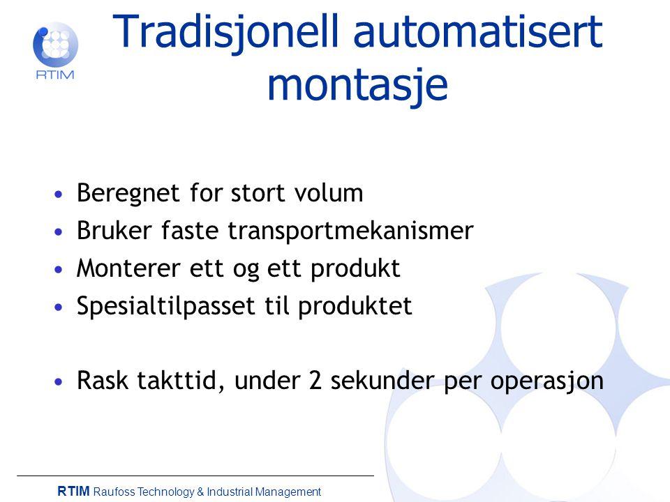 RTIM Raufoss Technology & Industrial Management Kraftmåling og adaptiv montasje