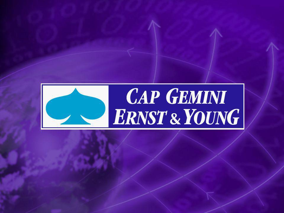Copyright 2002 Cap Gemini Ernst & Young Cap Gemini Ernst & Young 900 ansatte i Norge 5000 i Norden 59000 i konsernet Oslo Skien Kristiansand Stavanger Adm.dir.
