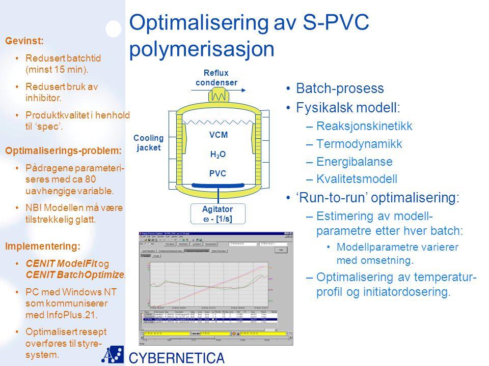 09/07/2014 Agitator  - [1/s] VCM H 2 O PVC Cooling jacket Reflux condenser Gevinst: Redusert batchtid (minst 15 min). Redusert bruk av inhibitor. Pro