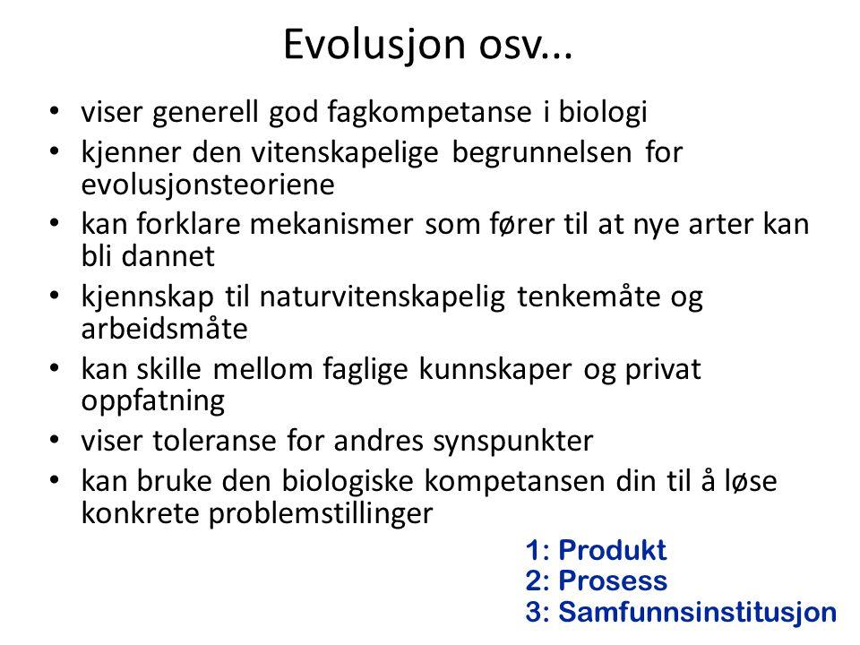 Evolusjon osv...