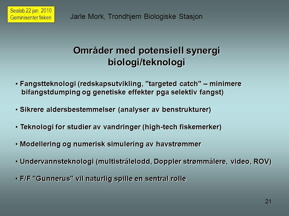 21 Jarle Mork, Trondhjem Biologiske Stasjon Sealab 22 jan.