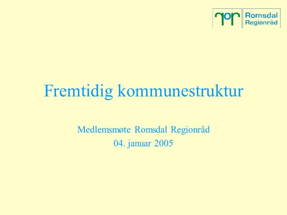 Fremtidig kommunestruktur Medlemsmøte Romsdal Regionråd 04. januar 2005